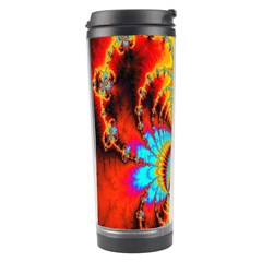 Crazy Mandelbrot Fractal Red Yellow Turquoise Travel Tumbler