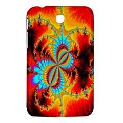 Crazy Mandelbrot Fractal Red Yellow Turquoise Samsung Galaxy Tab 3 (7 ) P3200 Hardshell Case