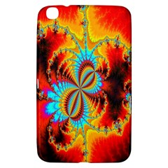 Crazy Mandelbrot Fractal Red Yellow Turquoise Samsung Galaxy Tab 3 (8 ) T3100 Hardshell Case