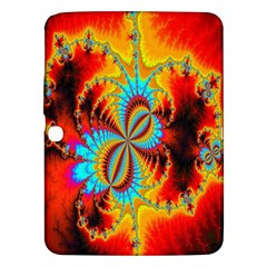 Crazy Mandelbrot Fractal Red Yellow Turquoise Samsung Galaxy Tab 3 (10.1 ) P5200 Hardshell Case