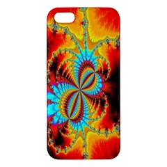 Crazy Mandelbrot Fractal Red Yellow Turquoise Iphone 5s/ Se Premium Hardshell Case by EDDArt