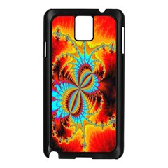 Crazy Mandelbrot Fractal Red Yellow Turquoise Samsung Galaxy Note 3 N9005 Case (Black)
