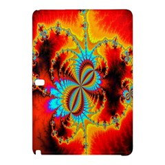 Crazy Mandelbrot Fractal Red Yellow Turquoise Samsung Galaxy Tab Pro 10 1 Hardshell Case by EDDArt