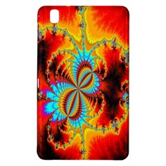 Crazy Mandelbrot Fractal Red Yellow Turquoise Samsung Galaxy Tab Pro 8 4 Hardshell Case by EDDArt