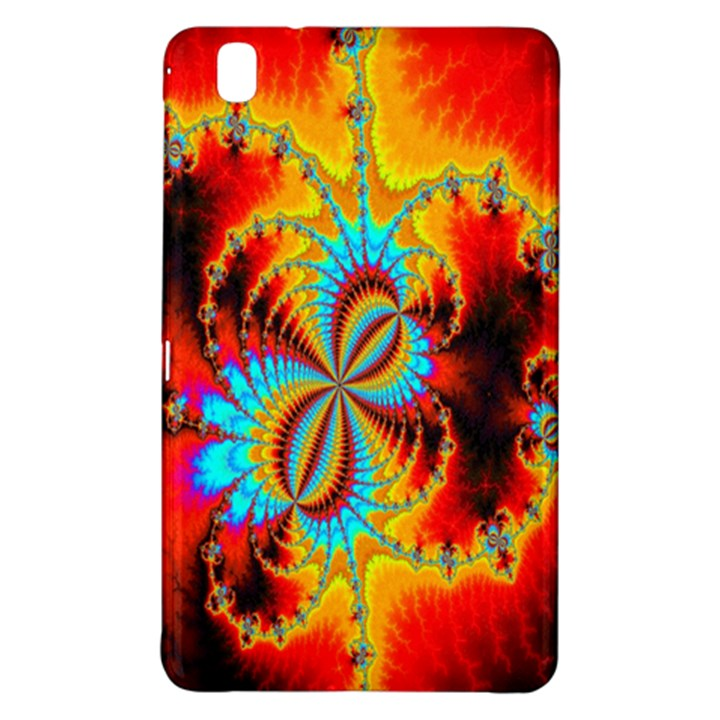 Crazy Mandelbrot Fractal Red Yellow Turquoise Samsung Galaxy Tab Pro 8.4 Hardshell Case
