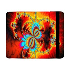 Crazy Mandelbrot Fractal Red Yellow Turquoise Samsung Galaxy Tab Pro 8.4  Flip Case