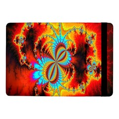 Crazy Mandelbrot Fractal Red Yellow Turquoise Samsung Galaxy Tab Pro 10 1  Flip Case by EDDArt