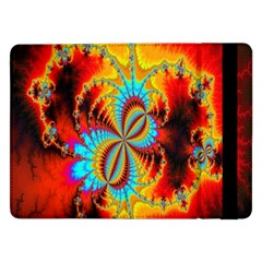 Crazy Mandelbrot Fractal Red Yellow Turquoise Samsung Galaxy Tab Pro 12.2  Flip Case
