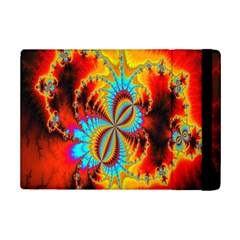 Crazy Mandelbrot Fractal Red Yellow Turquoise Ipad Mini 2 Flip Cases by EDDArt