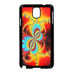 Crazy Mandelbrot Fractal Red Yellow Turquoise Samsung Galaxy Note 3 Neo Hardshell Case (black) by EDDArt
