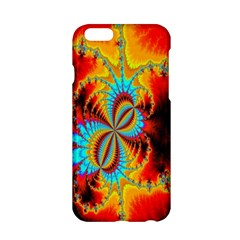 Crazy Mandelbrot Fractal Red Yellow Turquoise Apple Iphone 6/6s Hardshell Case by EDDArt