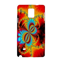Crazy Mandelbrot Fractal Red Yellow Turquoise Samsung Galaxy Note 4 Hardshell Case
