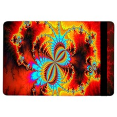 Crazy Mandelbrot Fractal Red Yellow Turquoise Ipad Air 2 Flip by EDDArt