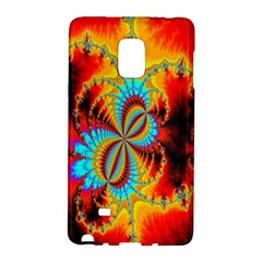 Crazy Mandelbrot Fractal Red Yellow Turquoise Galaxy Note Edge by EDDArt