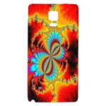 Crazy Mandelbrot Fractal Red Yellow Turquoise Galaxy Note 4 Back Case Front