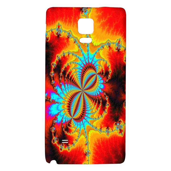 Crazy Mandelbrot Fractal Red Yellow Turquoise Galaxy Note 4 Back Case