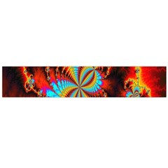 Crazy Mandelbrot Fractal Red Yellow Turquoise Flano Scarf (large) by EDDArt