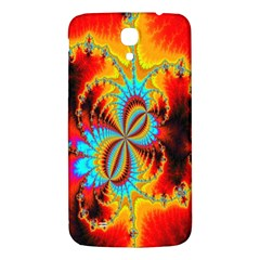Crazy Mandelbrot Fractal Red Yellow Turquoise Samsung Galaxy Mega I9200 Hardshell Back Case by EDDArt