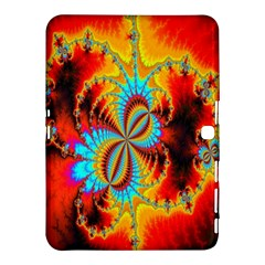 Crazy Mandelbrot Fractal Red Yellow Turquoise Samsung Galaxy Tab 4 (10 1 ) Hardshell Case  by EDDArt