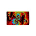 Crazy Mandelbrot Fractal Red Yellow Turquoise Cosmetic Bag (XS) Front