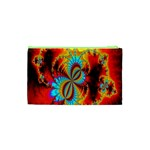 Crazy Mandelbrot Fractal Red Yellow Turquoise Cosmetic Bag (XS) Back