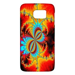 Crazy Mandelbrot Fractal Red Yellow Turquoise Galaxy S6 by EDDArt