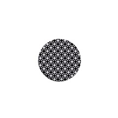 Modern Dots In Squares Mosaic Black White 1  Mini Magnets by EDDArt