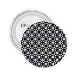 Modern Dots In Squares Mosaic Black White 2.25  Buttons Front