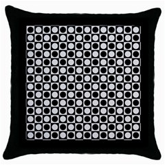 Modern Dots In Squares Mosaic Black White Throw Pillow Case (black) by EDDArt