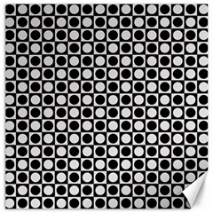 Modern Dots In Squares Mosaic Black White Canvas 16  X 16   by EDDArt