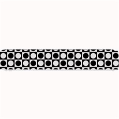 Modern Dots In Squares Mosaic Black White Small Bar Mats by EDDArt