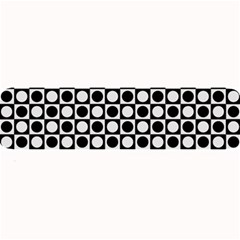 Modern Dots In Squares Mosaic Black White Large Bar Mats by EDDArt