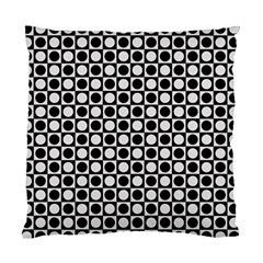 Modern Dots In Squares Mosaic Black White Standard Cushion Case (two Sides) by EDDArt