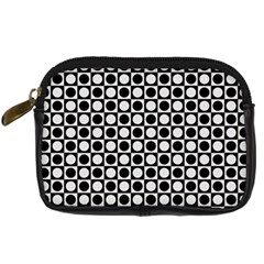 Modern Dots In Squares Mosaic Black White Digital Camera Cases by EDDArt