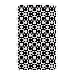 Modern Dots In Squares Mosaic Black White Memory Card Reader by EDDArt