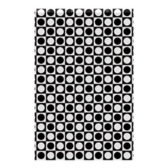 Modern Dots In Squares Mosaic Black White Shower Curtain 48  X 72  (small)  by EDDArt