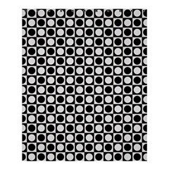 Modern Dots In Squares Mosaic Black White Shower Curtain 60  X 72  (medium)  by EDDArt