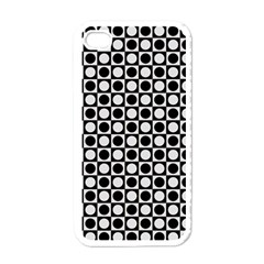 Modern Dots In Squares Mosaic Black White Apple Iphone 4 Case (white) by EDDArt