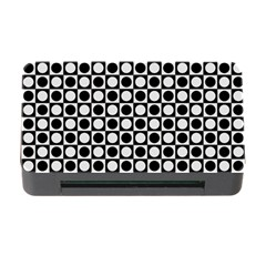 Modern Dots In Squares Mosaic Black White Memory Card Reader With Cf by EDDArt