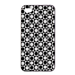Modern Dots In Squares Mosaic Black White Apple Iphone 4/4s Seamless Case (black) by EDDArt