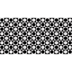 Modern Dots In Squares Mosaic Black White You Are Invited 3d Greeting Card (8x4)