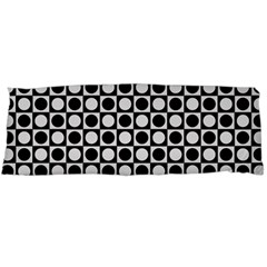 Modern Dots In Squares Mosaic Black White Body Pillow Case (dakimakura) by EDDArt