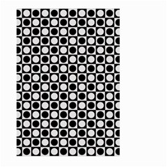 Modern Dots In Squares Mosaic Black White Large Garden Flag (two Sides) by EDDArt