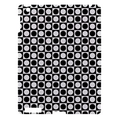 Modern Dots In Squares Mosaic Black White Apple Ipad 3/4 Hardshell Case by EDDArt