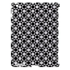 Modern Dots In Squares Mosaic Black White Apple Ipad 3/4 Hardshell Case (compatible With Smart Cover) by EDDArt
