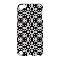 Modern Dots In Squares Mosaic Black White Apple Ipod Touch 5 Hardshell Case by EDDArt