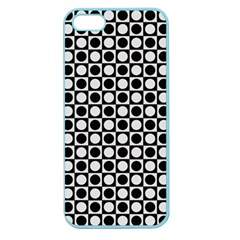 Modern Dots In Squares Mosaic Black White Apple Seamless Iphone 5 Case (color) by EDDArt