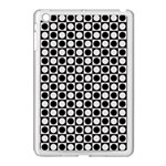 Modern Dots In Squares Mosaic Black White Apple iPad Mini Case (White) Front