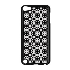 Modern Dots In Squares Mosaic Black White Apple Ipod Touch 5 Case (black) by EDDArt