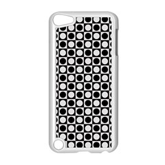 Modern Dots In Squares Mosaic Black White Apple Ipod Touch 5 Case (white) by EDDArt